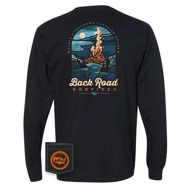 Back Road Bonfire Long Sleeve Pocket Tee