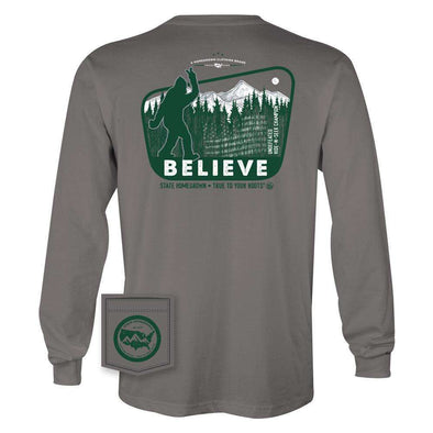 Believe in Bigfoot Pocket Tee