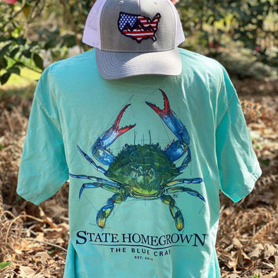 The Blue Crab Short Sleeve Pocket Tee