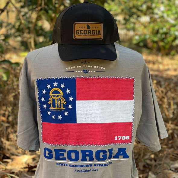 Stat of Georgia Flag, Georgia Flag Pocket Tee