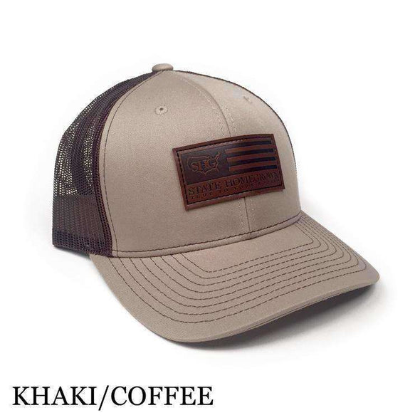 Leather Flag Patch Trucker Hat