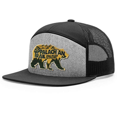 Appalachian Trail Bear Flat Bill Trucker Hat