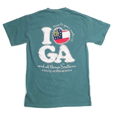 I Love GA Pocket Tee