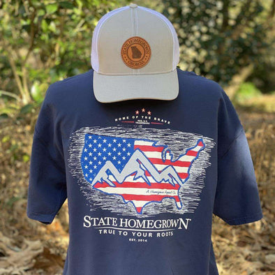 SHG US Flag Logo Pocket Tee