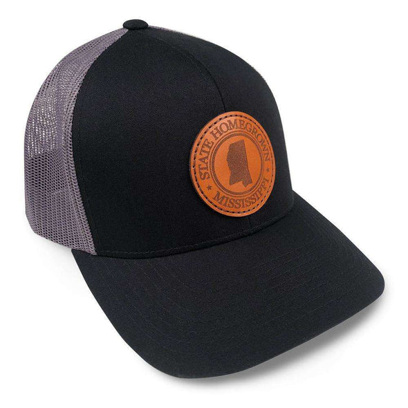 Mississippi Pride Leather Patch Trucker Hat
