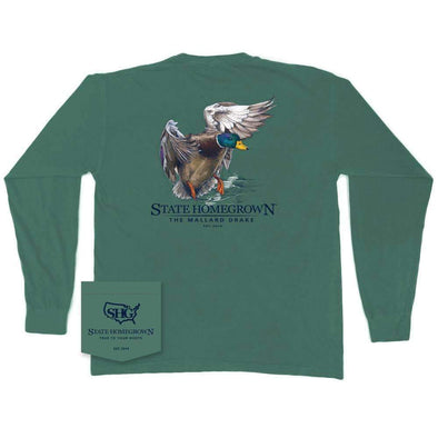 The Mallard Drake Long Sleeve Pocket Tee