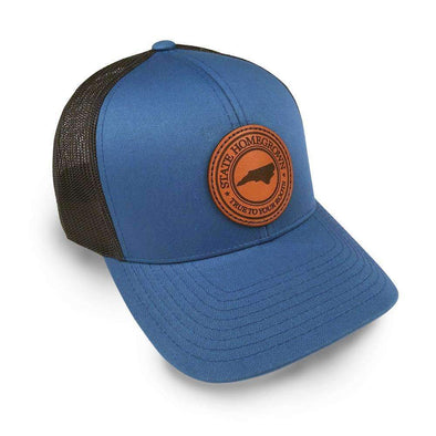 North Carolina Pride Leather Patch Trucker Hat