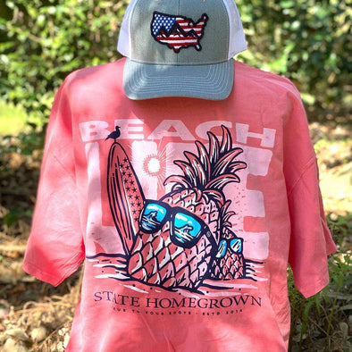 Pineapple Beach Life Pocket Tee