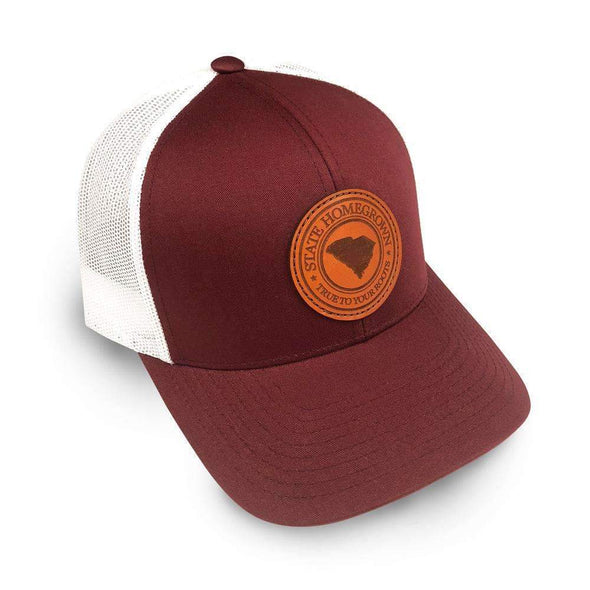 South Carolina Pride Leather Patch Trucker Hat