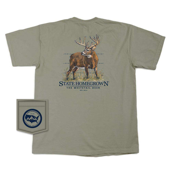 The WhiteTail Deer Short Sleeve Pocket Tee