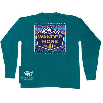 Wander More Long Sleeve Pocket Tee
