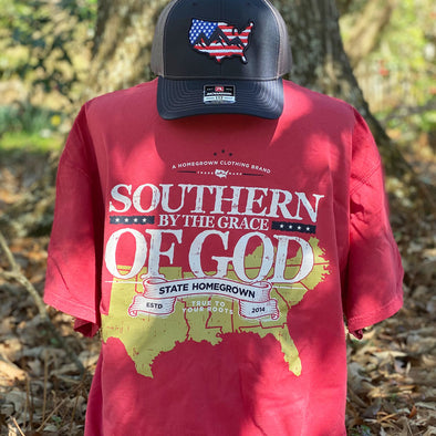 Southern By the Grace of GOD Pocket Tee