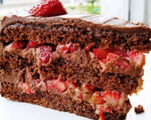 Homemade chocolate cake moist with fruits
