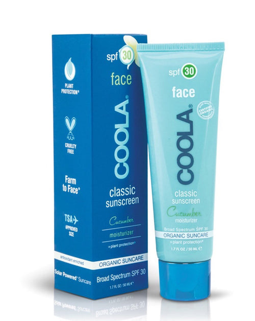 COOLA SPF30 classic face sunscreen cucumber