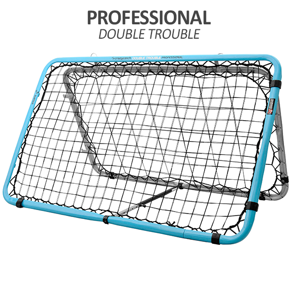 Crazy Catch - Professional Double Trouble Sports Rebound Net, Large Training Net for Football Training, Basketball Training, Soccer and all Major Sports