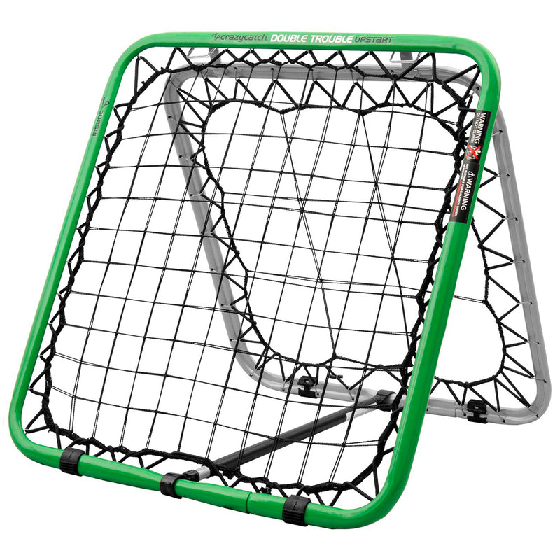 Crazy Catch - Sports Training, Upstart Double Trouble Rebound Net for use with Football, Basketball, Baseball and more