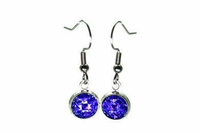 Newborn Feathers 8mm Drop 8mm Cobalt Drop Earrings
