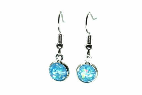 Newborn Feathers 8mm Drop 8mm Ocean Drop Earrings