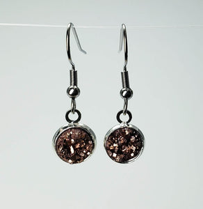 Newborn Feathers 8mm Drop 8mm Rosegold Drop Earrings