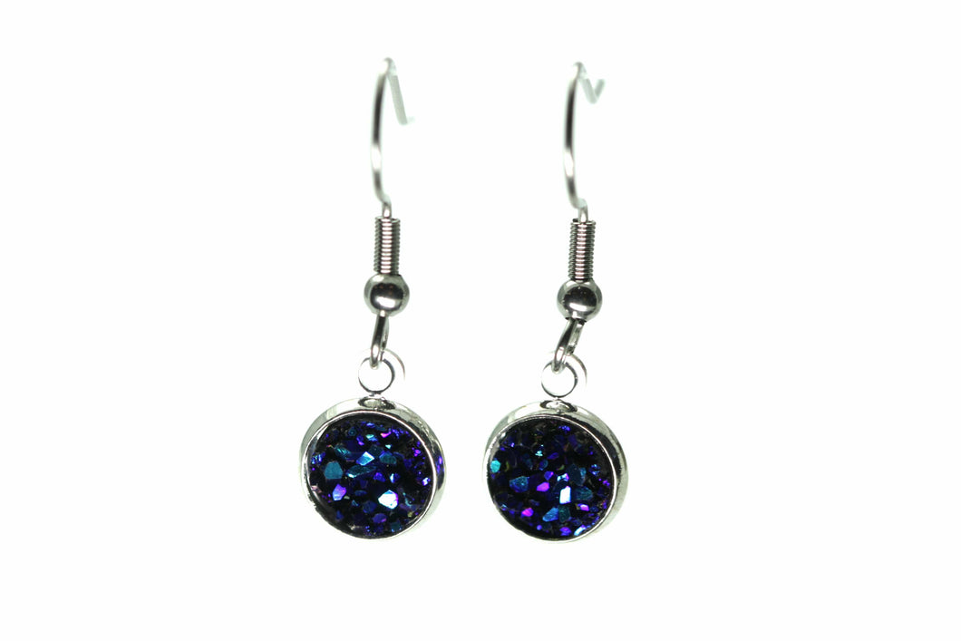 Newborn Feathers 8mm Drop 8mm Supernova Drop Earrings
