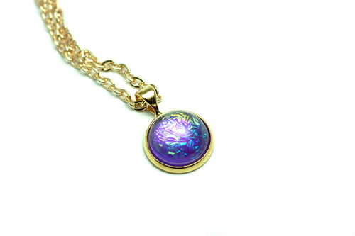 Newborn Feathers Geode Pendant Gold Eclipse Pendant