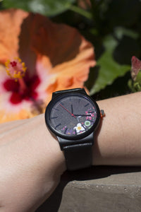 Newborn Feathers Tropical Flowers Floral Pattern Casual Quartz Watch