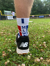 Official MLW Blue/White Stripe Quarter Socks