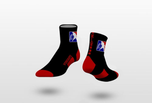 Official MLW Red/Black Stripe Quarter Socks