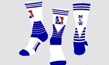 Official MLW Blue/White Havoc Crew Socks