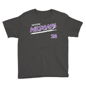 Kyle Schultz Western Wildcats YOUTH Jersey Tee