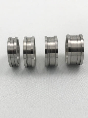 2 piece ring core in titanium available in different widths and sizes