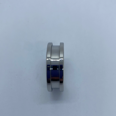 Stainless steel channel ring core 8mm with 4mm inlay channel