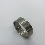 Titanium double inlay ring core Inside and outside