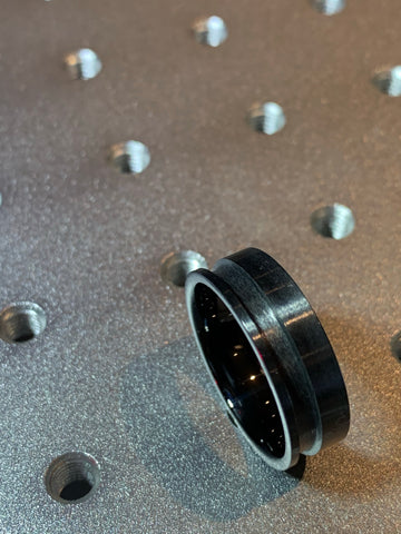 Black ceramic Offset inlay groove ring core
