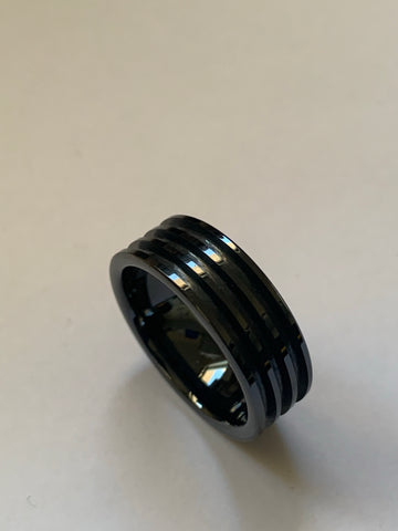 Black ceramic Three channel ring core