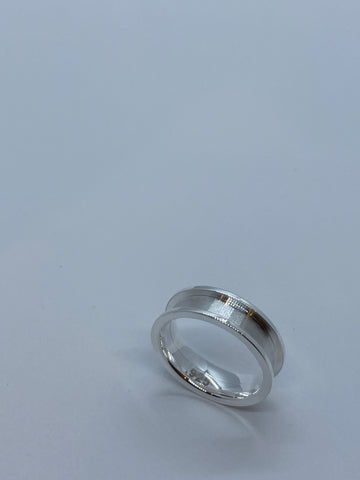 2 piece silver ring core, .925 silver ring core, sterling silver ring, silver ring supplies