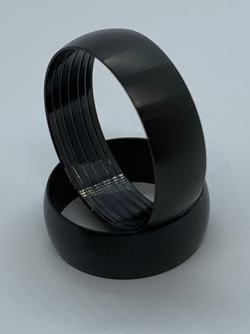 Black Titanium Brushed finish round dome, outside ring core for interior wood inlay