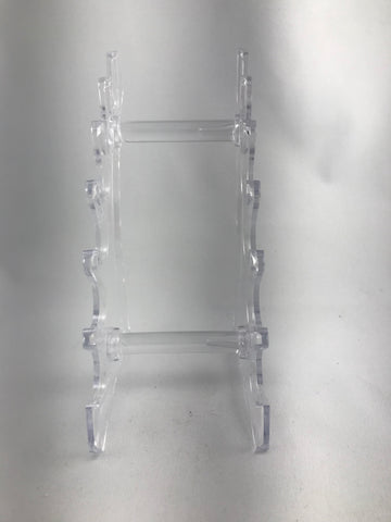 Clear plastic pen stand 6 pen stand horizontal