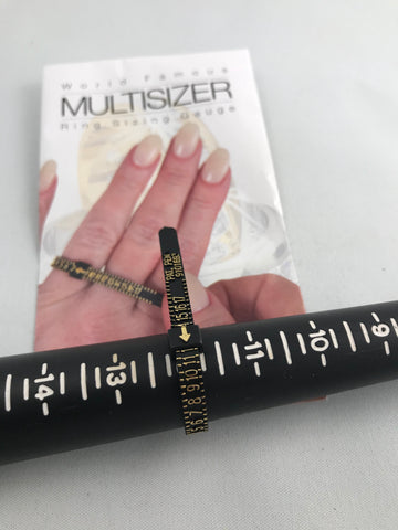 Multi sizer Ring sizing Gauge (Sizes 1-17)