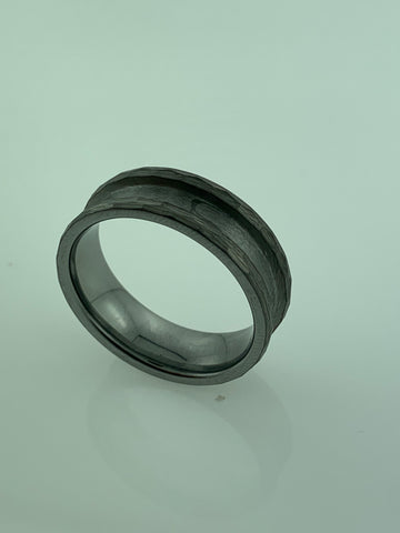 Hammered Tungsten ring cores