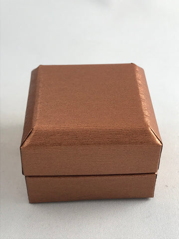 Copper cardboard ring box