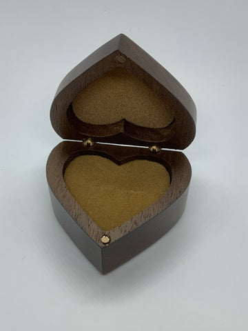 Heart shape ring boxes