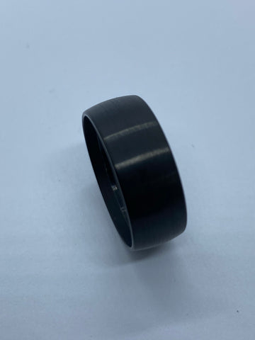 Domed Black Tungsten outside ring core for interior wood inlay