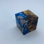 Hybrid ring cube Cotton wood burl
