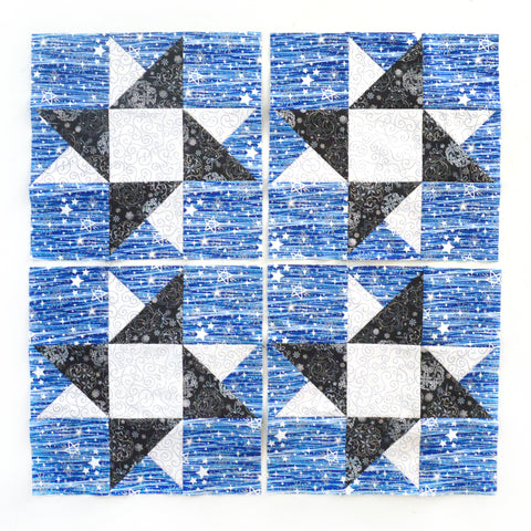 Blue Holidays Star Block #2