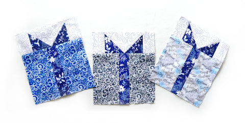 Blue Holidays Quilt-Along Present Block