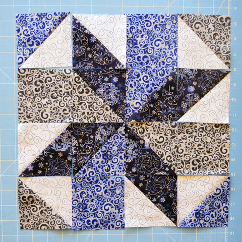 Blue Holiday Star block 1