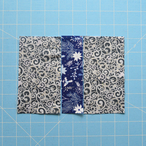 Blue Holidays Quilt Along Present Block