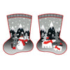Red + Grey Christmas Stockings 11418-6510