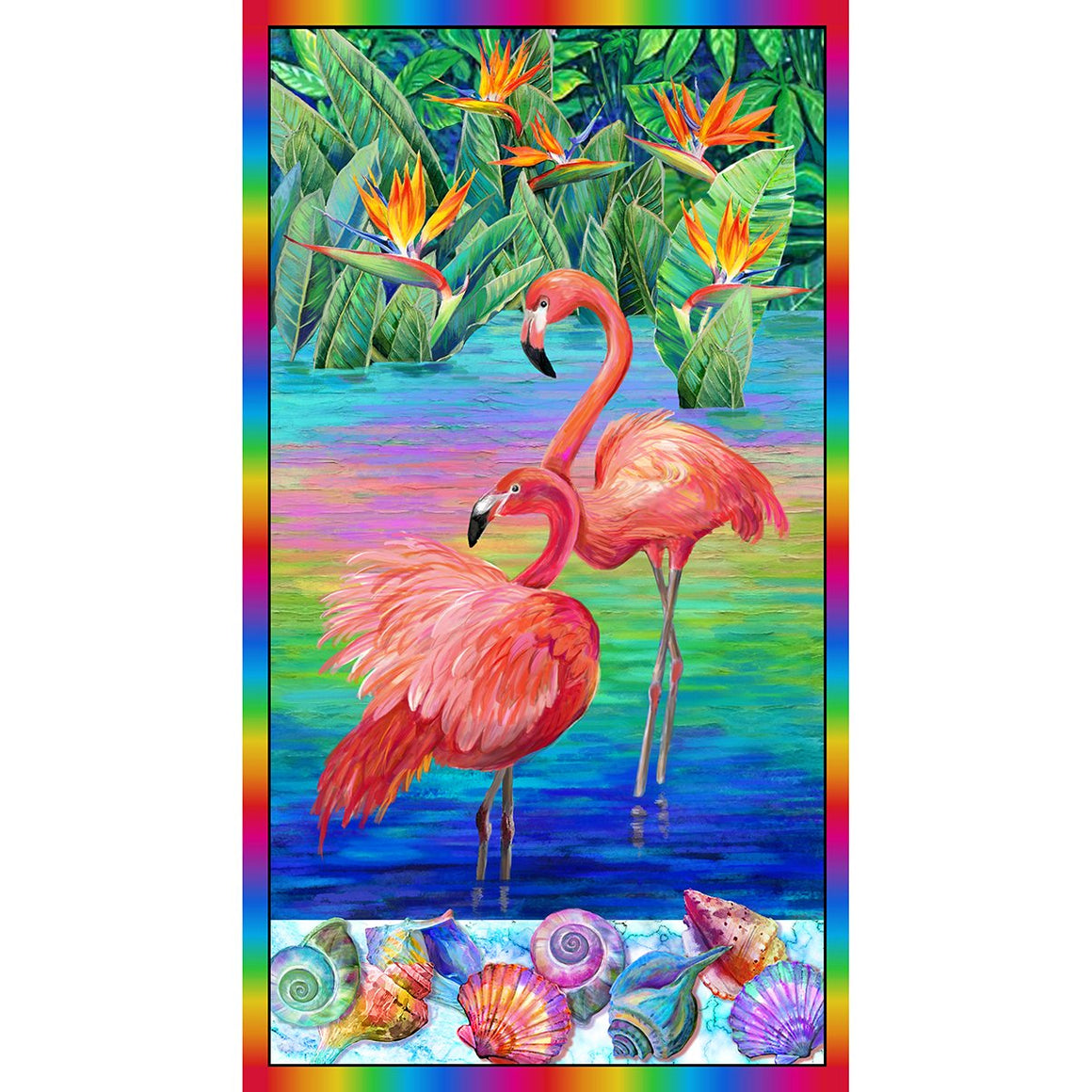Fabulous Flamingos Panel 120-208901